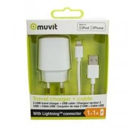 Acheter un smartphone neuf - Pack Chargeur 2 USB et Cable Lightning - garantie 24 mois