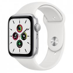 Acheter un Apple Watch SE GPS 44 mm - Boîtier en Aluminium Argent avec Bracelet Sport Blanc - neuf - paiement plusieurs fois