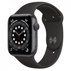 Acheter un Apple Watch Series 6 GPS 44 mm - Boîtier Aluminium Gris Sidéral avec Bracelet Sport Noir - neuf - paiement plusieurs
