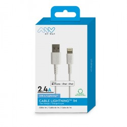 Acheter un Myway- Câble Lightning 1M / USB-A compatible Apple - neuf - paiement plusieurs fois