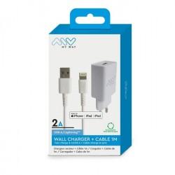 Acheter un Myway - Chargeur secteur et câble lightning 1m - compatible Apple - neuf - paiement plusieurs fois